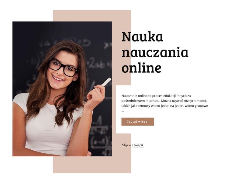 Nauka nauczania online Szablon witryny sieci Web