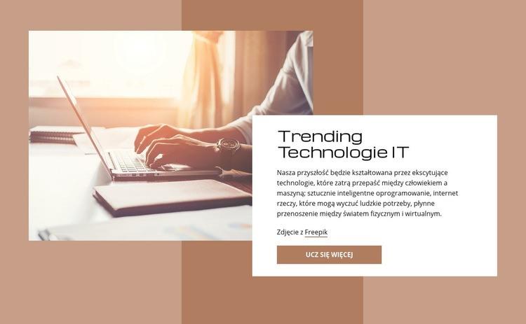 Trendy w technologiach IT Szablon witryny sieci Web