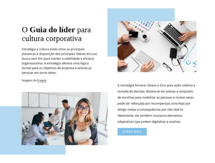 O guia do líder Modelo de site