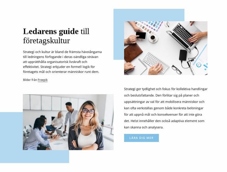 Ledarens guide Webbplats mall