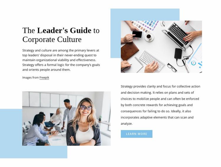 The leader's guide Website Mockup