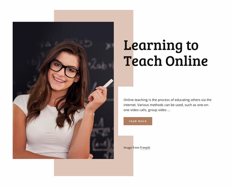 Learning to teach online Website Template
