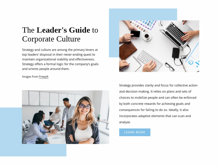 The leader's guide Website Template