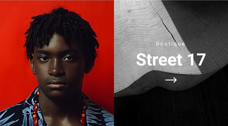 Lux boutique Homepage Design