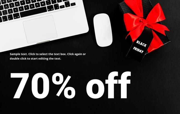 Super sale in shop Html Website Builder