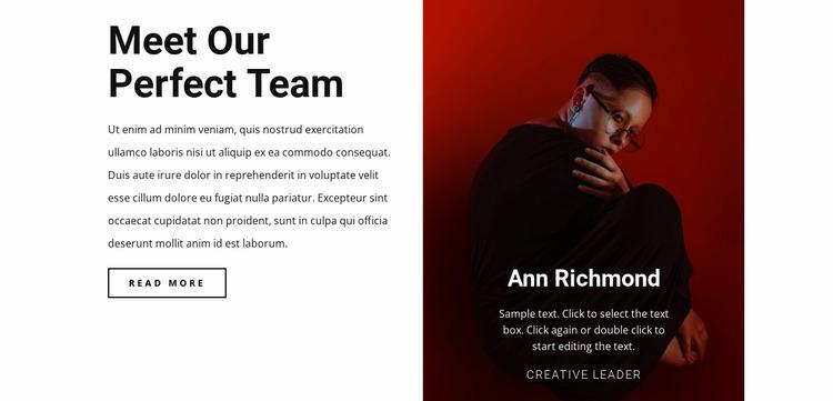 Creative human in team Html Website Builder