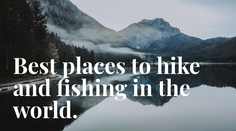 Best place for fishing One Page Template