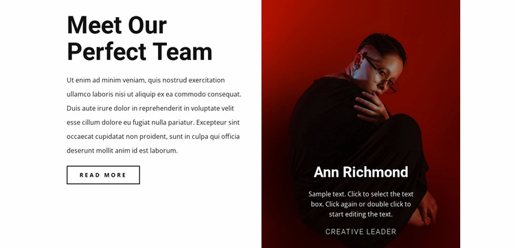 Creative human in team Website Template