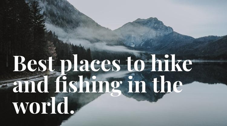 Best place for fishing WordPress Website Builder