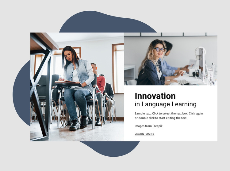 Innovations in language learning HTML5 Template