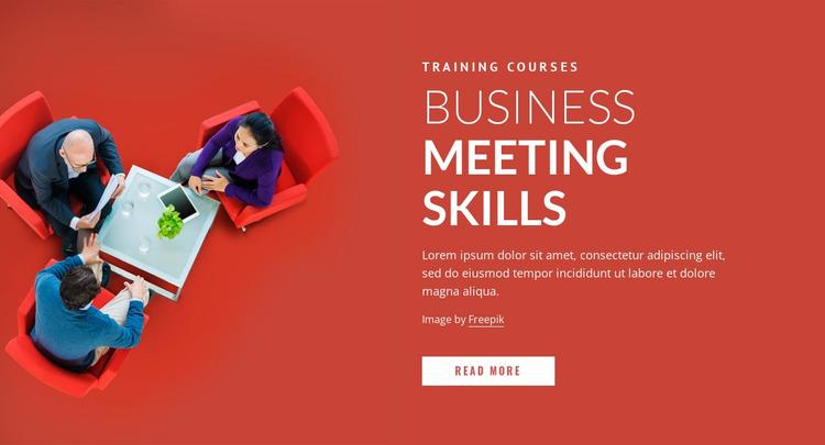 Business meeting skills Website Mockup
