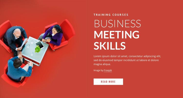 Business meeting skills Landing Page