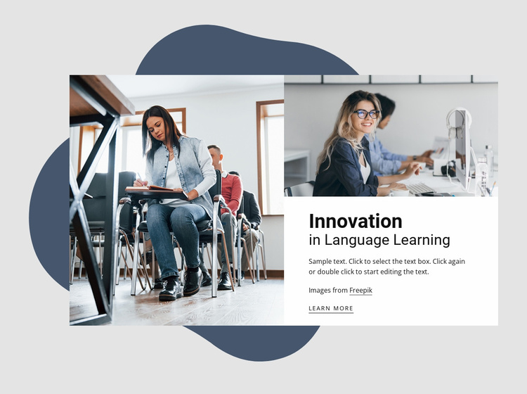 Innovations in language learning Landing Page
