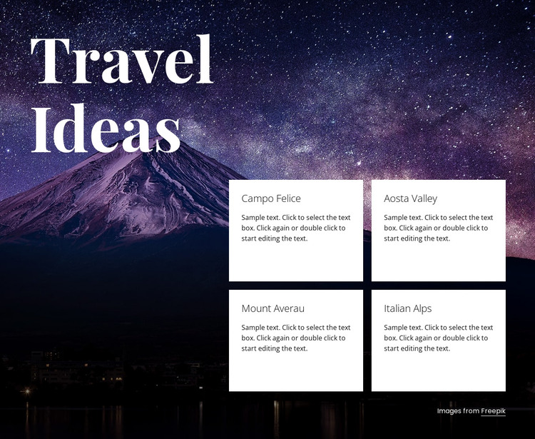 Travel ideas HTML Template