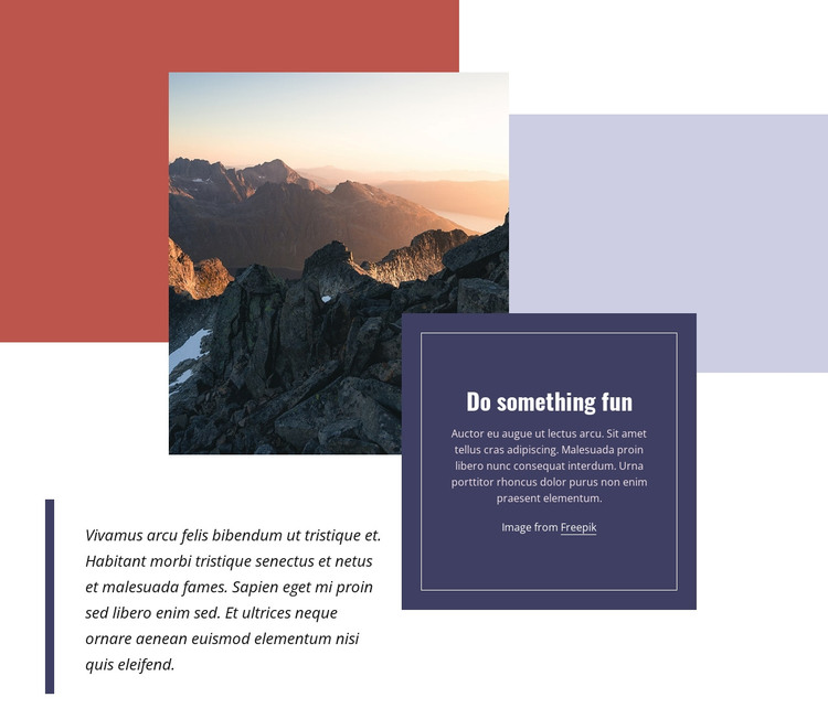 Connecting with nature HTML Template