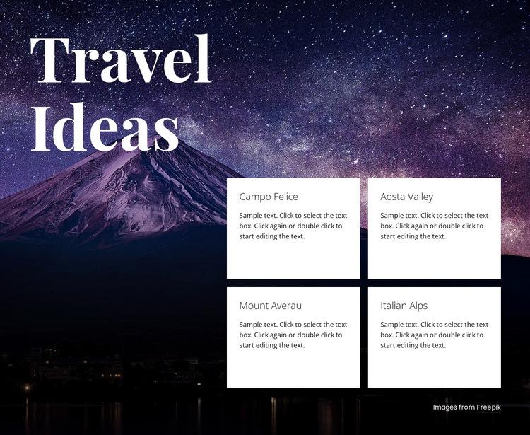 Travel ideas HTML5 Template