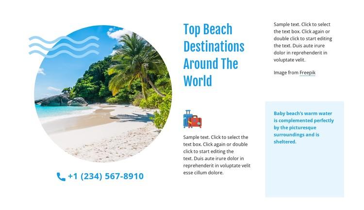 Top beach destinations CSS Template