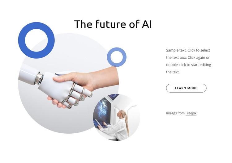 The future of AI HTML Template