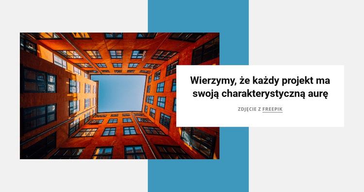Architektura i projektowanie wnętrz Szablon witryny sieci Web