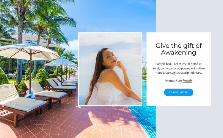 Wellness spa hotel Website Template