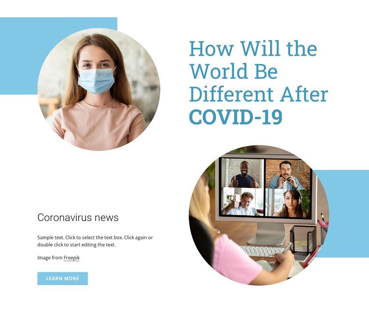 Coronavirus pandemic HTML Template