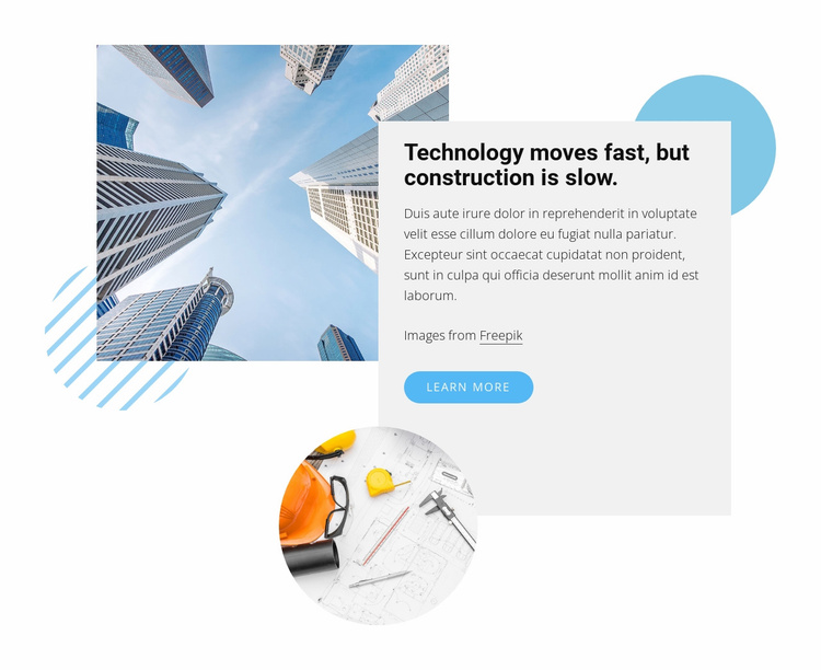 Technology moves fast Website Template