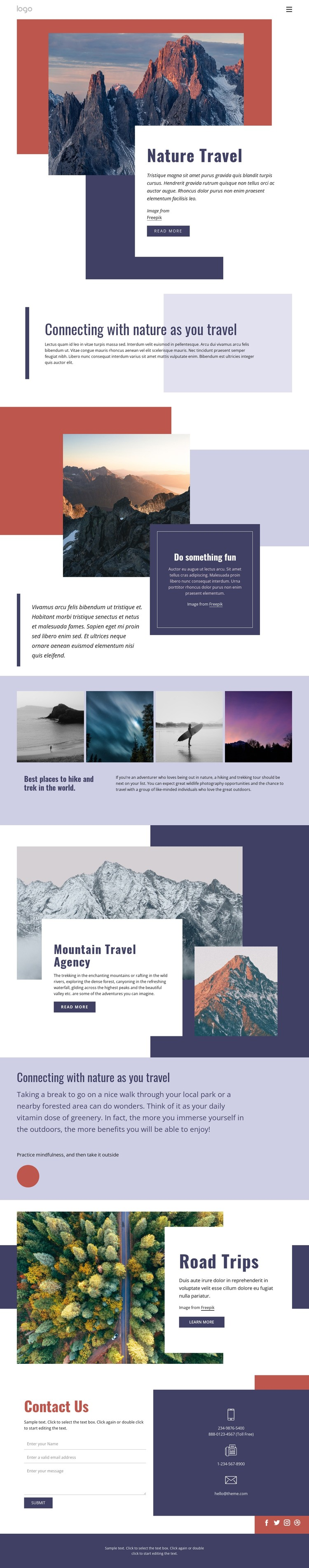 Nature travel CSS Template