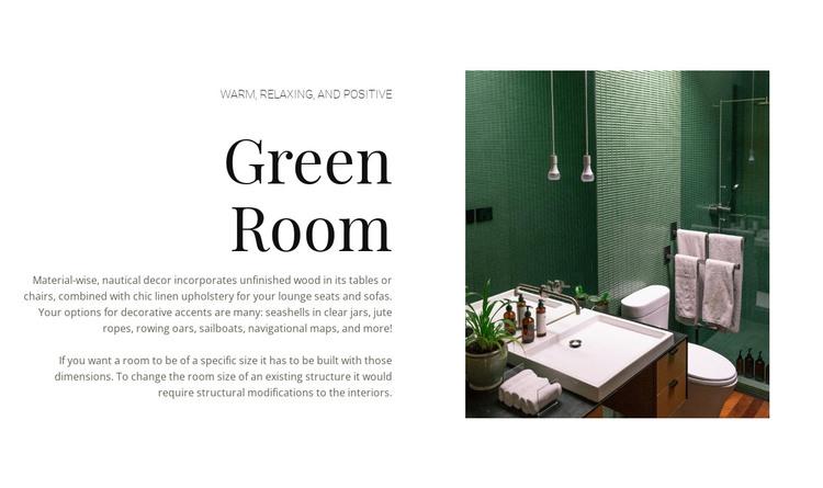 Green color in interior HTML Template