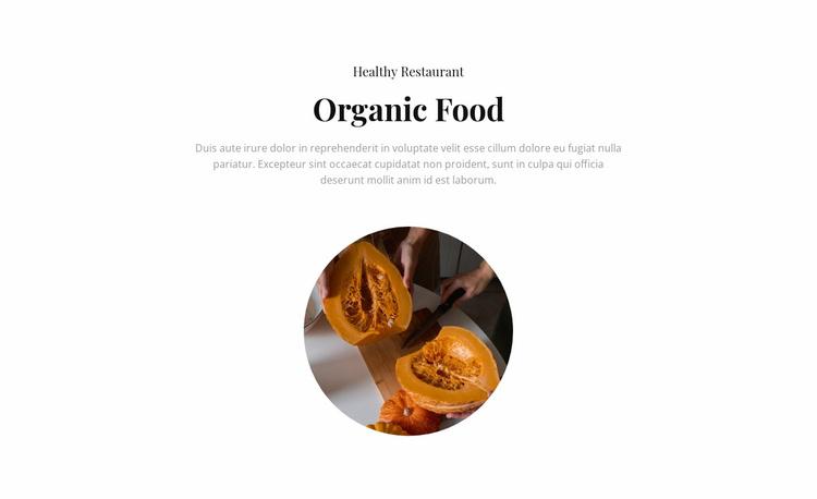 Organic cafe Landing Page