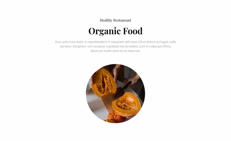 Organic cafe WordPress Website Builder