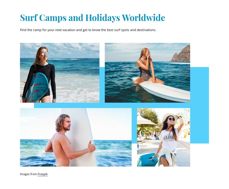 Surf camps CSS Template