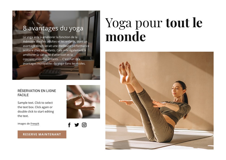 Yoga pour tous Modèle de site Web