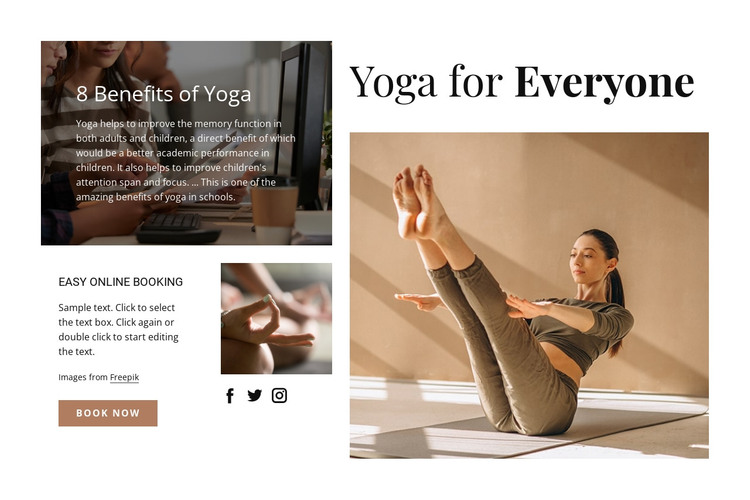Yoga for everyone HTML Template