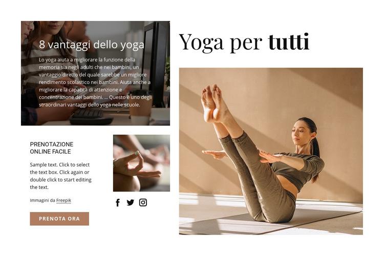 Yoga per tutti Modello di sito Web