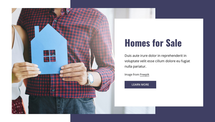 Homes for sale One Page Template