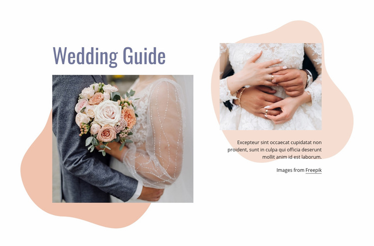 We have organized your wedding Web Page Design