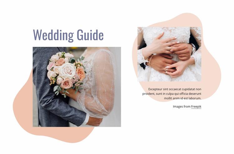 We have organized your wedding Web Page Designer