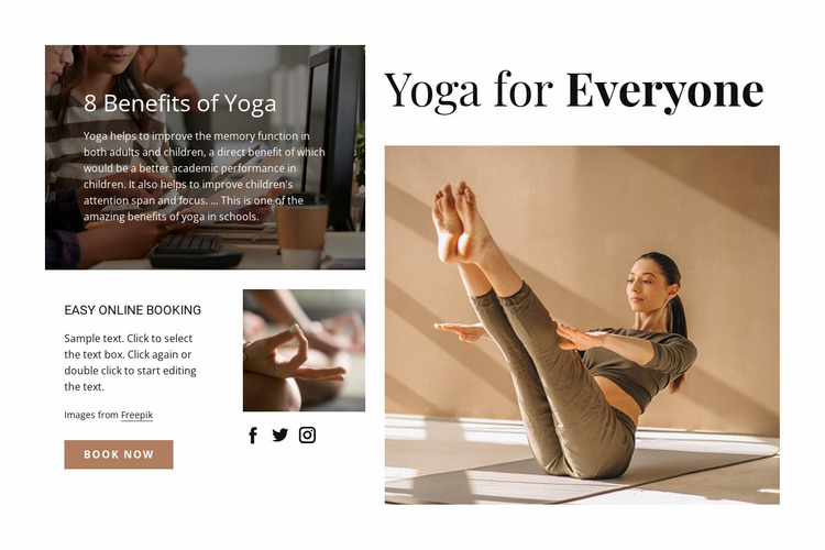 Yoga for everyone Website Template