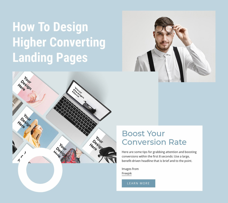 Boost your conversion rate Website Template