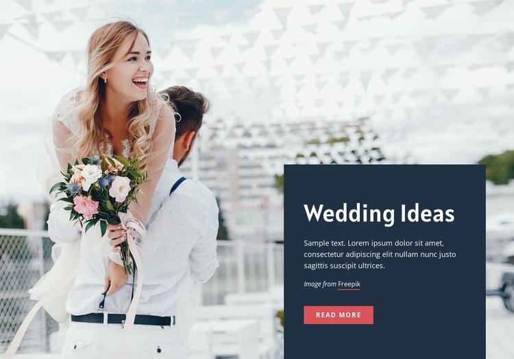 Wedding decorations ideas Website Template