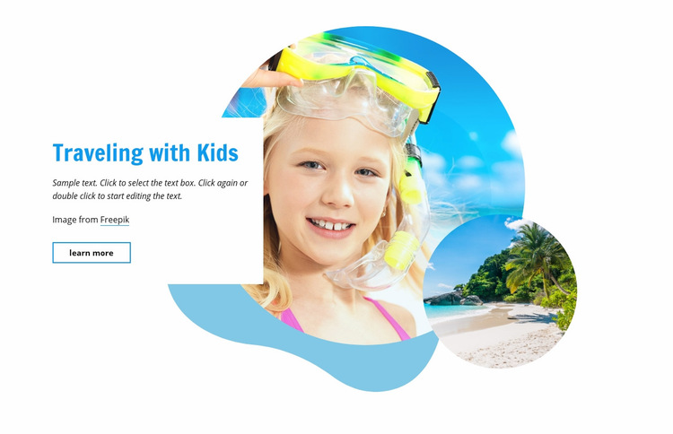 Traveling with kids Web Page Design