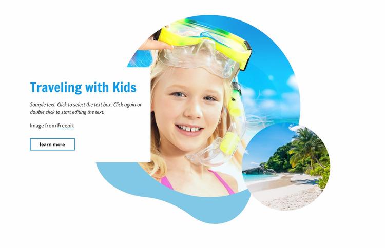 Traveling with kids Website Mockup