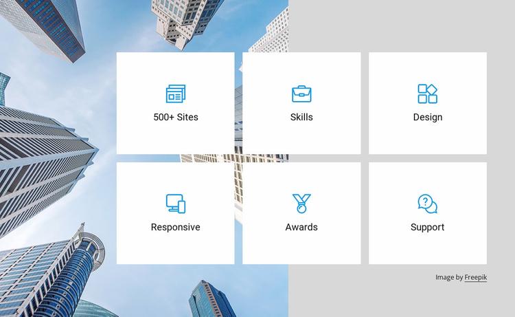Amazing features Website Template