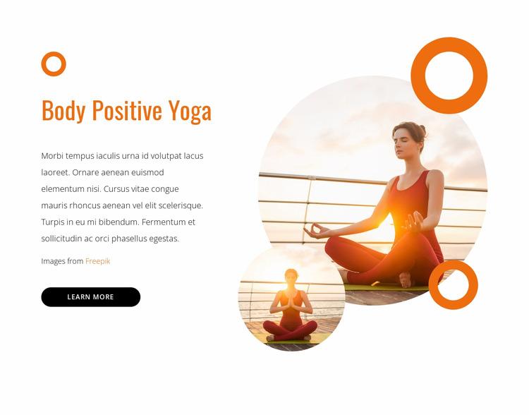 Body positive yoga Html Website Builder