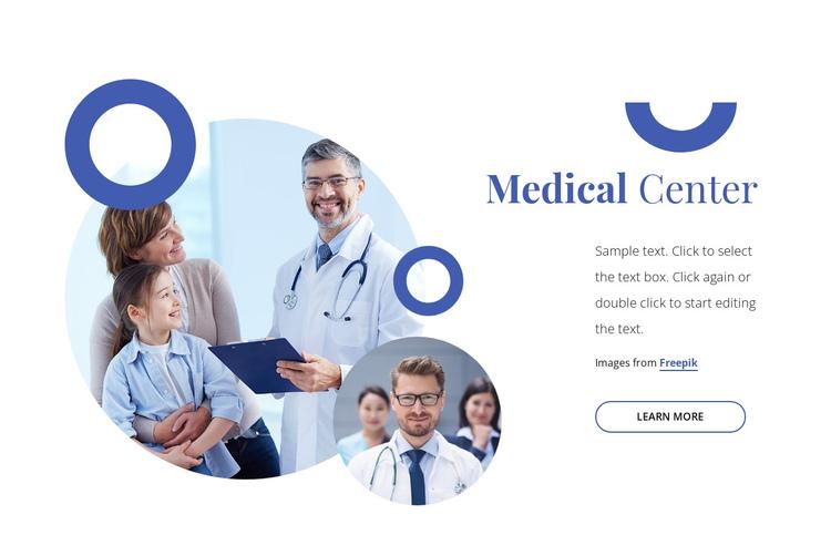 Medical family center Website Builder Software