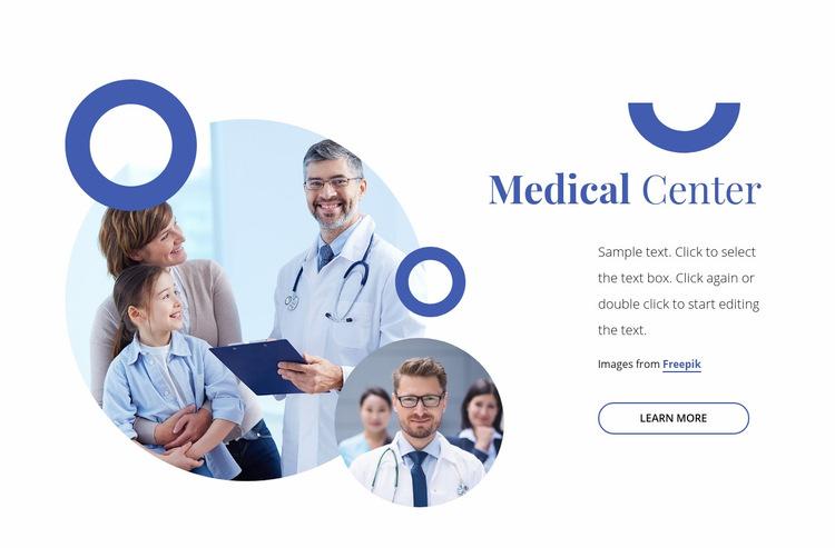 Medical family center WordPress Website