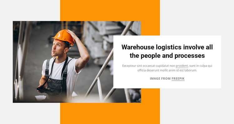 Warehouse logistics One Page Template