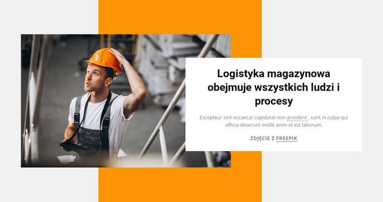 Logistyka magazynowa Szablon witryny sieci Web