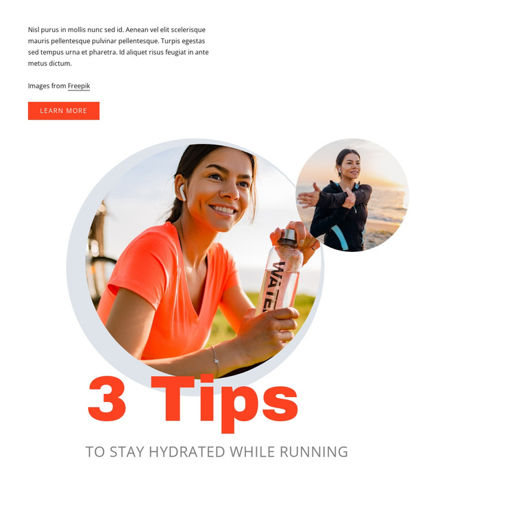 Running tips HTML Template