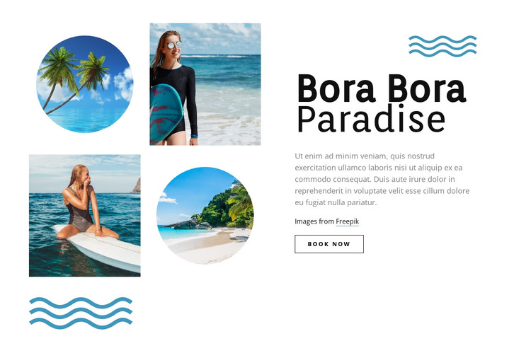 Bora Bora paradise HTML Template